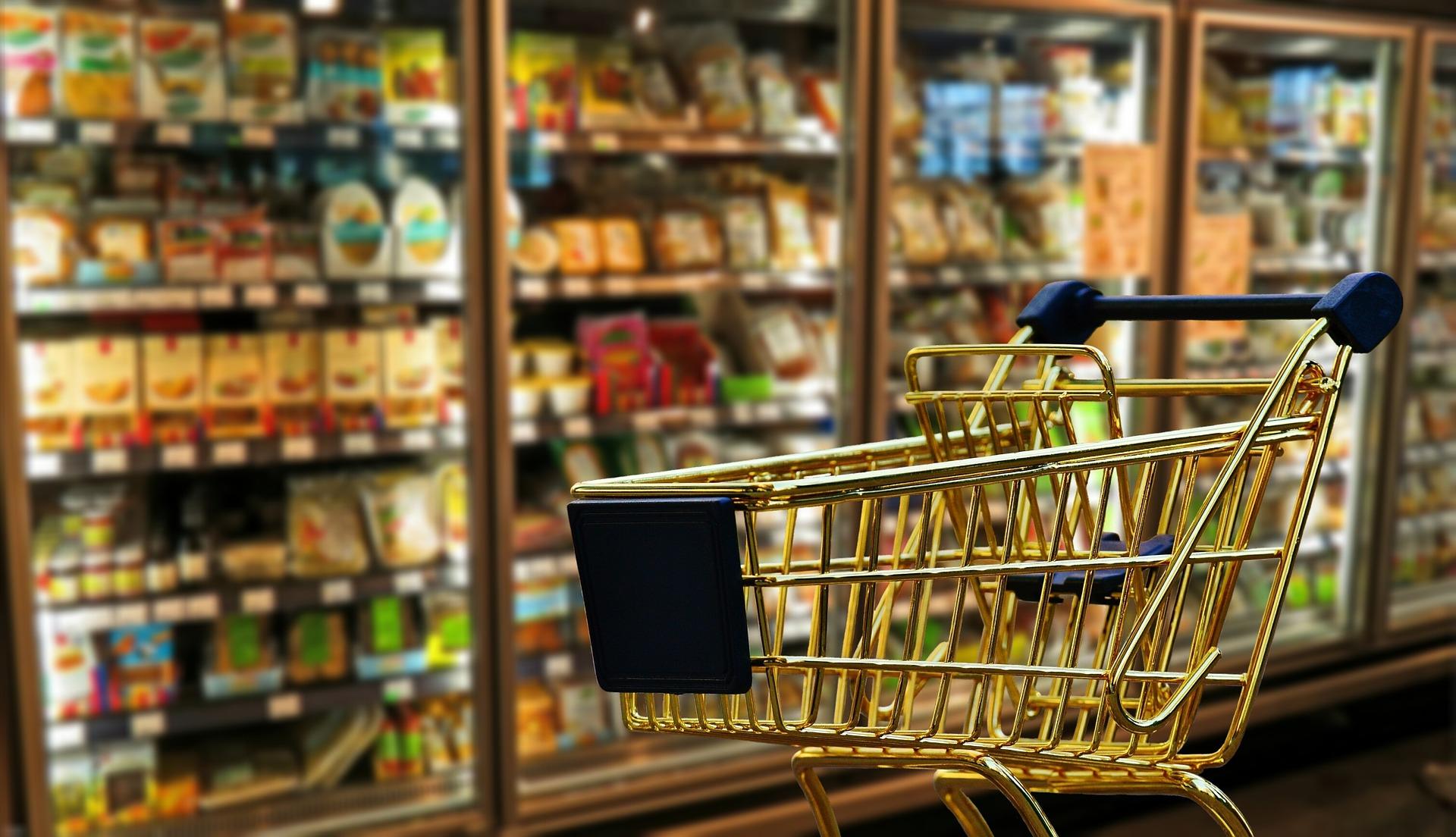 supermarkt boodschappenkar