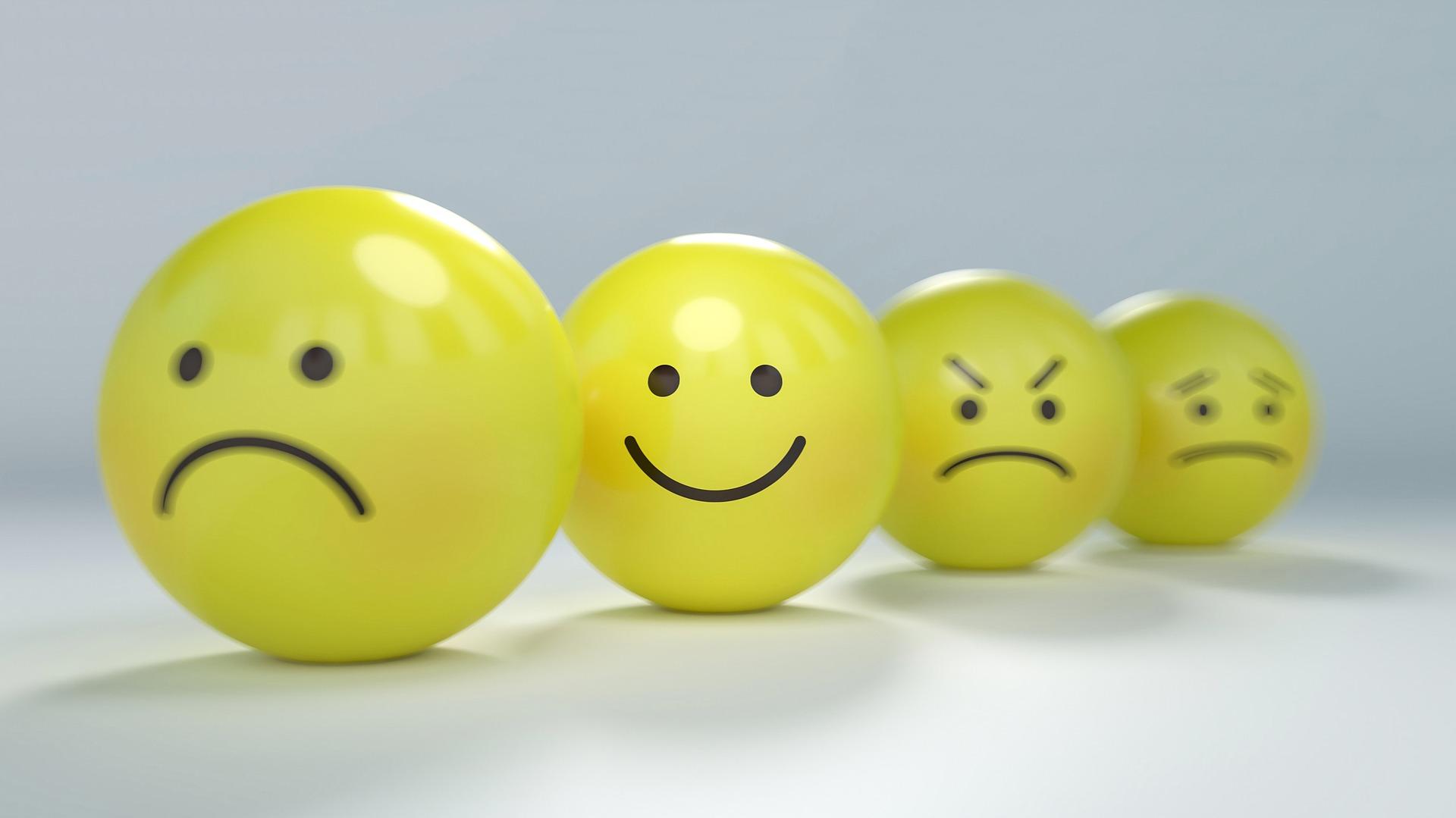 smiley gelukkig zijn